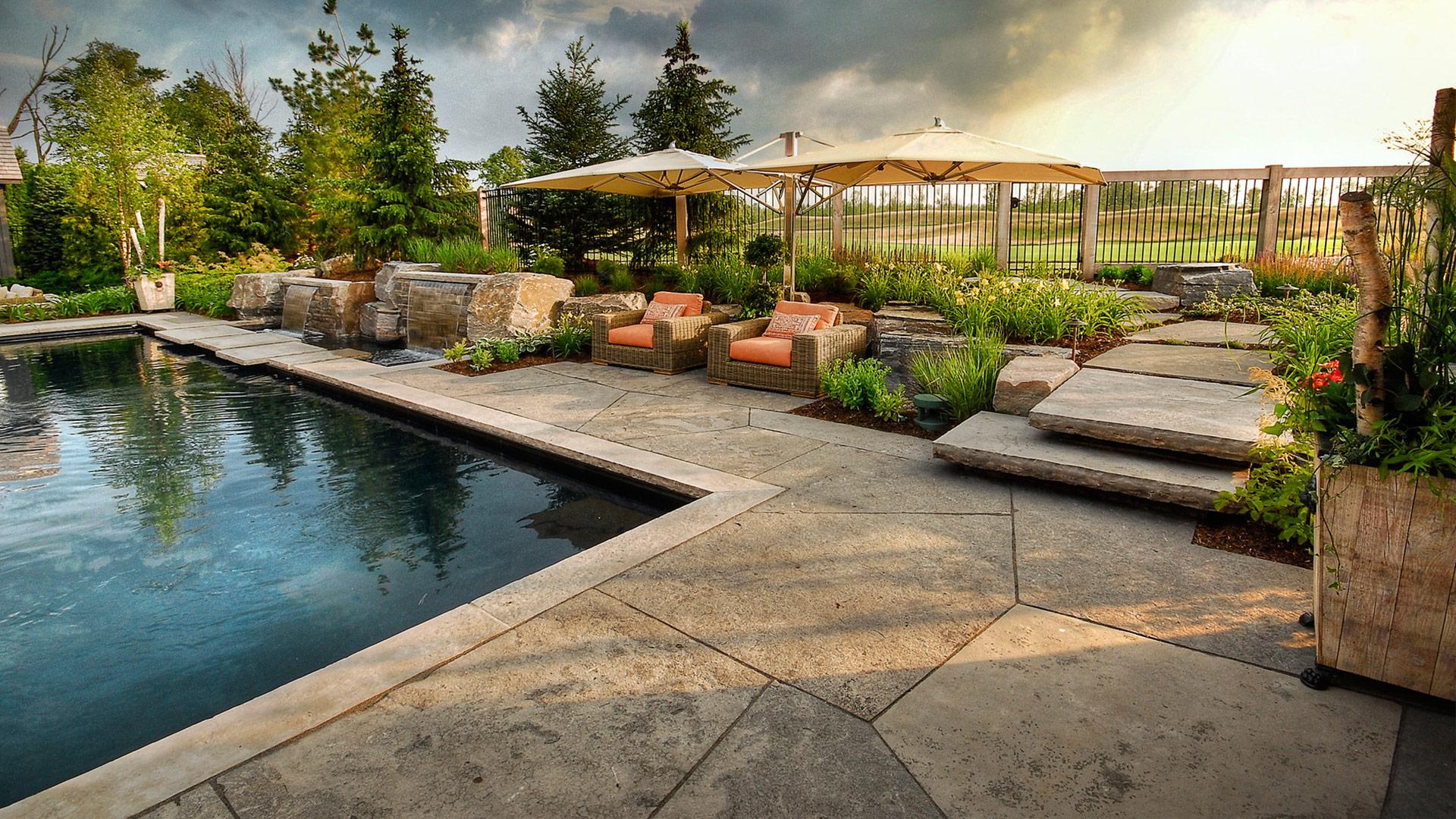 Luxusní, velkoformátová kamenná dlažba