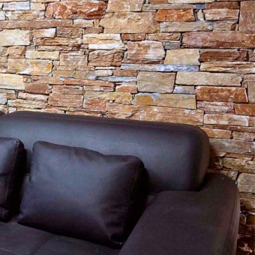 Stone wall cladding in Interior - Color Mix