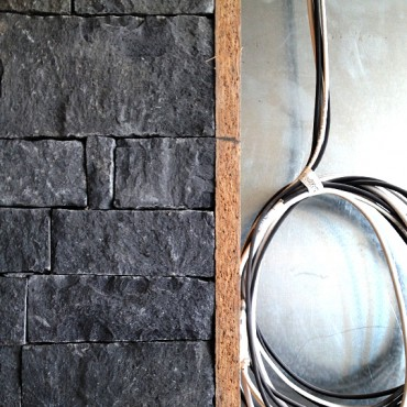 Corner of Stone cladding - Dark Gray