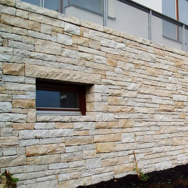 Stone wall cladding on facade - Kalahari