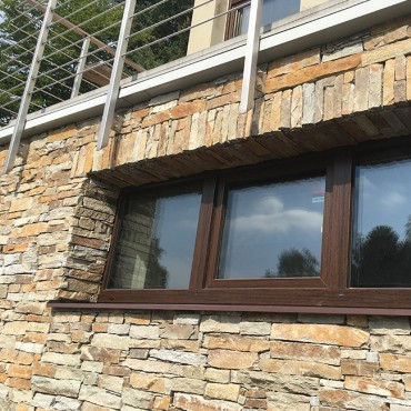 Stone around the window - Modern Rustic