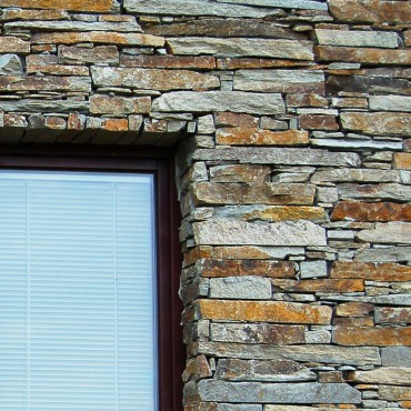 Stone around window - Modern Rustic