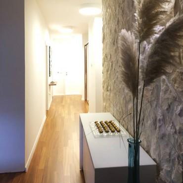 Kamenný obklad v interiéru - Motion White