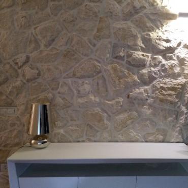 Kamenný obklad stěny - Motion White