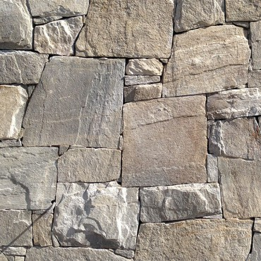 Detail of Stone Cladding - Royal Silver