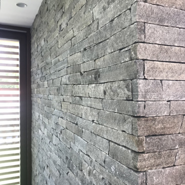 Detail of stone cladding - Silver Harmony