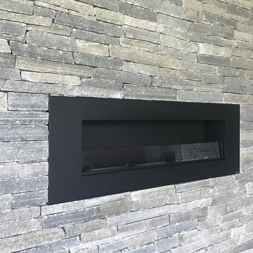 Stone cladding and the fireplace