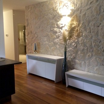 Interior stone wall cladding - Motion White