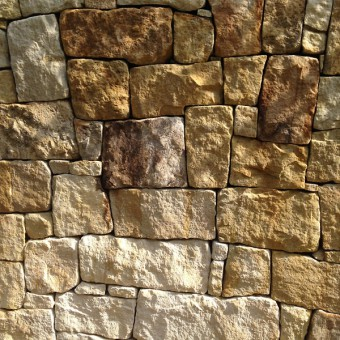 Detail of the stone walling - Golden History