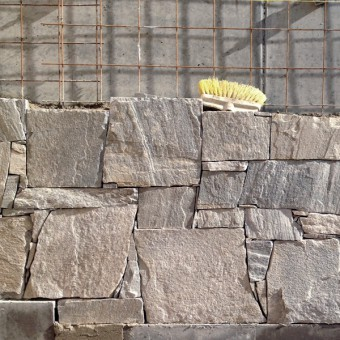 Realization of facade from a natural stone - Royal Silver