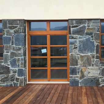 Facade from natural stone - Massive Rock