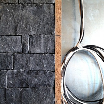 Corner of stone wall cladding - Dark Grey