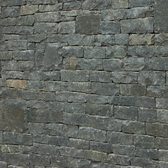 Stone wall cladding on fence - Dark Grey